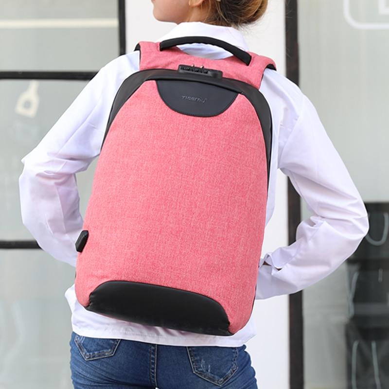 Tigernu Women Anti Theft Tsa Lock Female Laptop Backpack Usb Charge School Bag For Teenager Girls Feminine Backpacks Bagpack #6