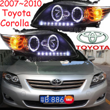 Corolla headlight,2007~2010/2011~2013,Free ship! Corolla fog light,2ps/set+2pcs Aozoom Ballast,Altis