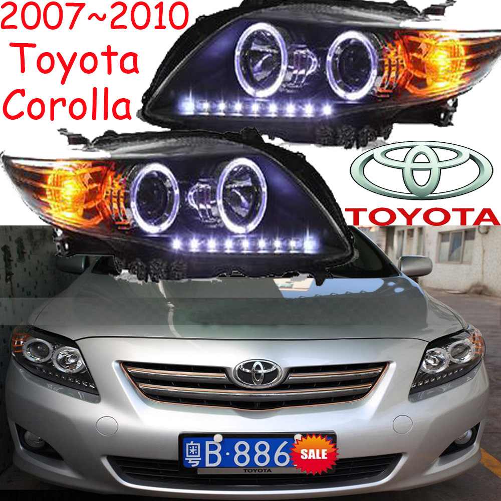 Corolla headlight,2007~2010/2011~2013,Free ship! Corolla fog light,2ps/set+2pcs  Ballast,Altis 2011 2013 golf6 fog light 2pcs set wire of harness golf6 halogen light 4300k free ship golf6 headlight golf 6