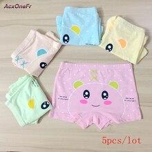 Cotton Panties Girls Kids Short Briefs baby girl underwear children underwear child cartoon shorts 3-8years 5pcs/set 706-5