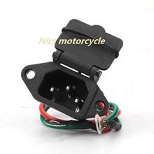 2-проводной Электрический мотоцикл-Скутер ATV Скутер 3-разъем зарядки гнездо разъема