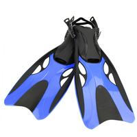 YFXcreate 1 pair Professional Scuba Diving Snorkeling Fins with Adjustable Heel Foot for Adults Water Sports 200 1007