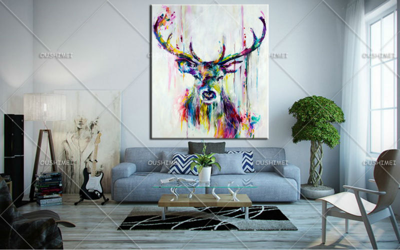Buy hand painted contemporary art modern for Modern art to buy