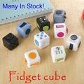 Em Estoque 8 Pçs/lote Original Fidget Brinquedos do Cubo Uma Mesa De Vinil Aliviar O Stress Brinquedo engraçado Anti Irritabilidade Do Presente Para Crianças e Adultos Dice