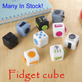 En Stock 8 Unids/lote Original Fidget Cubo Juguetes de Vinilo Escritorio divertido Juguete de Regalo Para Niños Adultos Aliviar El Estrés Anti Irritabilidad dados