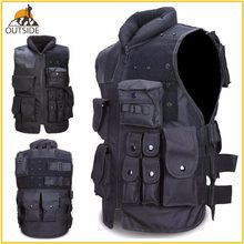 High Quality Tactical Vest Black Mens Military Hunting Vest Field Battle Airsoft Molle Waistcoat Combat Assault Plate Carrier(China)