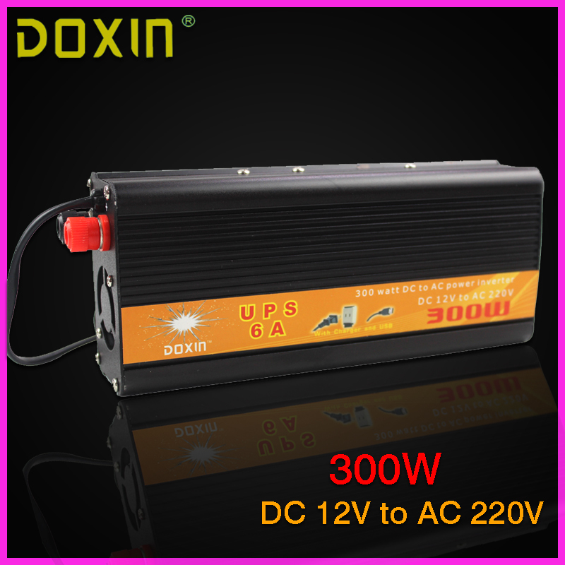 UPS DC AC Car Power Inverter 12V 220V 300W Universal Inverter Uninterrupted Power Supply Auto Charge
