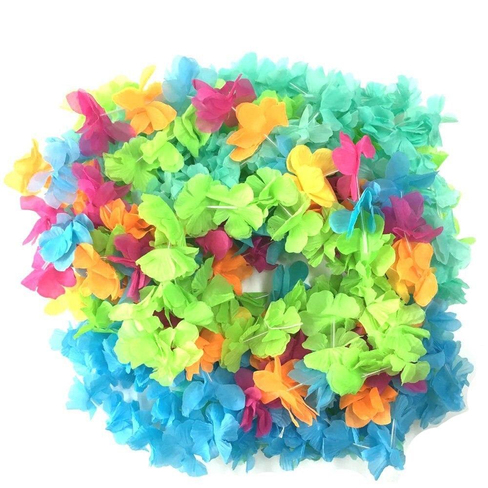 Party Island Beach: Aliexpress.com : Buy Hawaiian Colorful Luau Flower Leis