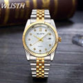 2016 New Fashion gold watch men full Stainless Steel Quartz watches waterproof Wrist Watch for men Analog Auto date male clcok