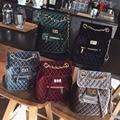 2017 Vintage Women Backpack  Mini  Velvet Backpack female bag  student's school bag Velour geometry shoulder chain brand style