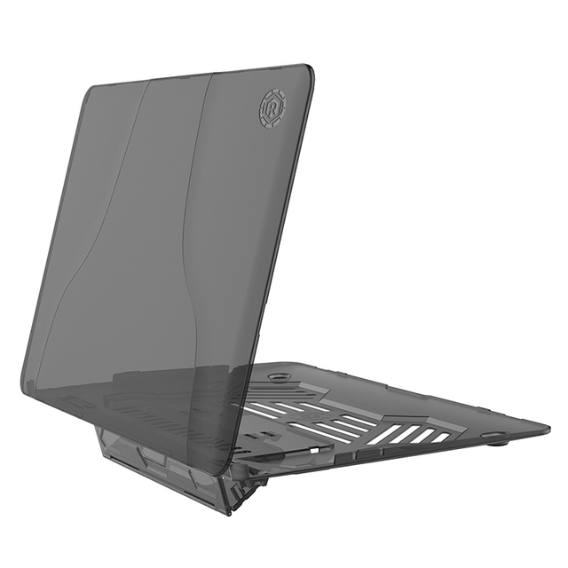 For Macbook Air 13 Silicone Case With Desk Stand Holder In Half