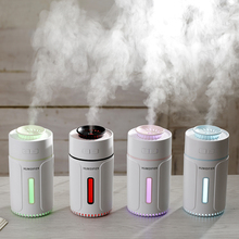 300ml Air Humidifier Ultrasonic Cool Mist 7 Color Light USB Aroma Essential Oil Diffuser Car Office Mist Maker Humidificador