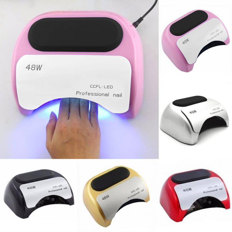 Professional 48 W CCFL LED Lamp Nail Dryer For Nail Gel Polish Curing Nails Lamp Dryers Art Manicure Automatic Sensor US EU Plug nail dryers 36w professional uv led lamp nail dryer polish machine for curing nail gel eu us plug 4 x leds lamps pink color
