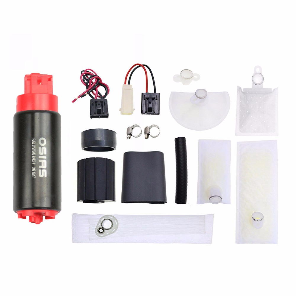 OSIAS New OSIAS 340LPH High Performance Fuel Pump & Install Kit GSS342 Update osias ship from us cn brand new 340lph high performance fuel pump replace walbro 255lph gss342