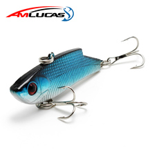 Amlucas 55mm 10g Fishing Lure VIB Onerous Bait Sea Bass Lures Japan Vibration Bait All Depth Winter Fishing Deal with WE198
