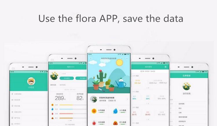 International version xiaomi mi flora monitora czujnik światła inteligentny tester cyfrowy kwiat trawy opieki gleby wody dla roślin ogrodowych 4