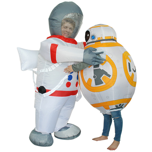 NEW Halloween Space suit Inflatable Costume For Children/Kids Star Wars Robot BB 8 ...
