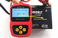 MICRO 30 Battery Auto Tester Battery Tester Home Depot With Multi Language