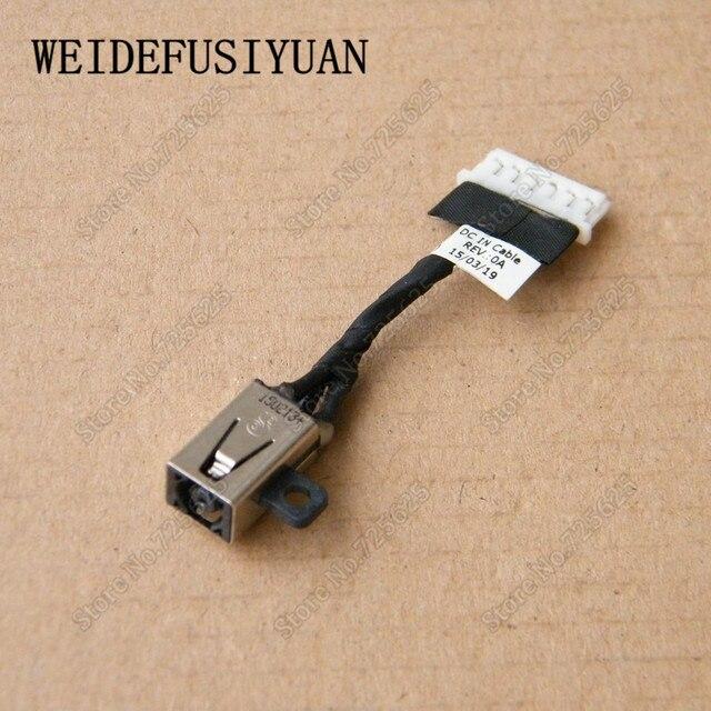 AC DC Jack wtyczki zasilania w Port ładowania gniazdo złącza z drutu kabel uprząż dla DELL CHROMEBOOK 13 7310 13- 7310