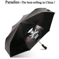 Paraguas automático para hombre  paraguas plegable único con diseño de calavera para niño  sombrilla para sol y lluvia  protección UV a la moda para niños  paraguas ligeros a prueba de viento|Paraguas| |  -