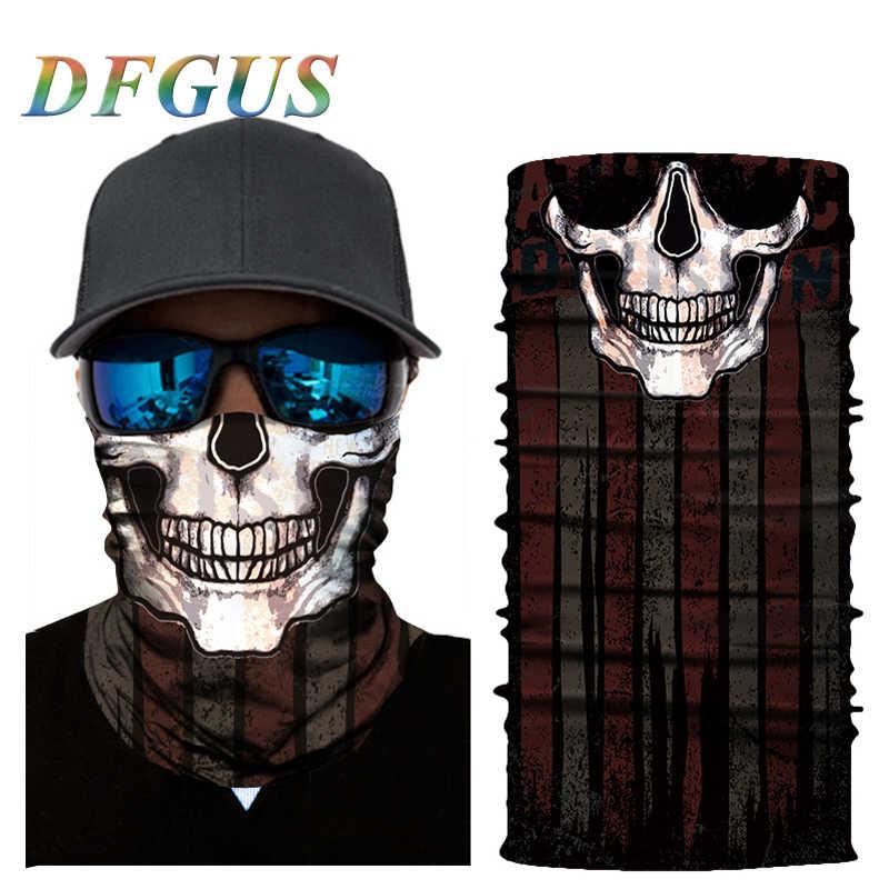 3D Senza Soluzione di Continuità Clown Skull Balaclava Magia Viso Maschera Caldo Del Motociclo Sci Durag Fantasma Collo Ghetta Scudo Bandana Halloween Sole