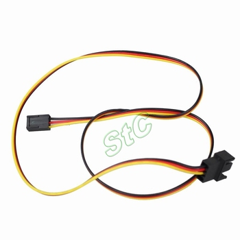 100 Pieces LOT 12V 2510-3P Male to 2510-3P Female PC Case 3pin Extension Lengthen Cable Wire