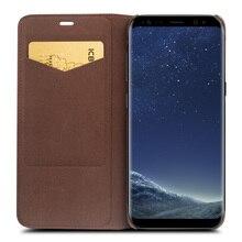 Qialino Пояса из натуральной кожи чехол для Samsung Galaxy S8 и S8 плюс кожаный мешок флип бумажник ультра тонкий чехол для Samsung S8 и S8 плюс