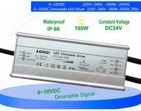 ETLZ-24-180W Wasserdichte 0-10VDC Dimmbare LED-TREIBER für Rohr Hinunter Licht Panel Licht Zurück Panel Licht 220-240 V 180 Watt 24VDC