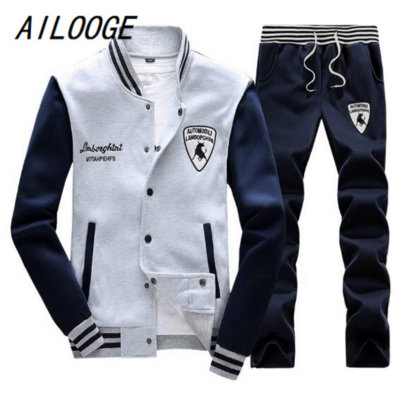 AILOOGE Spring Autumn Men'S Fashion Sportswear Sporting Men Clothes Track Tracksuits Male Sweatshirts Men Plus Size Men Set