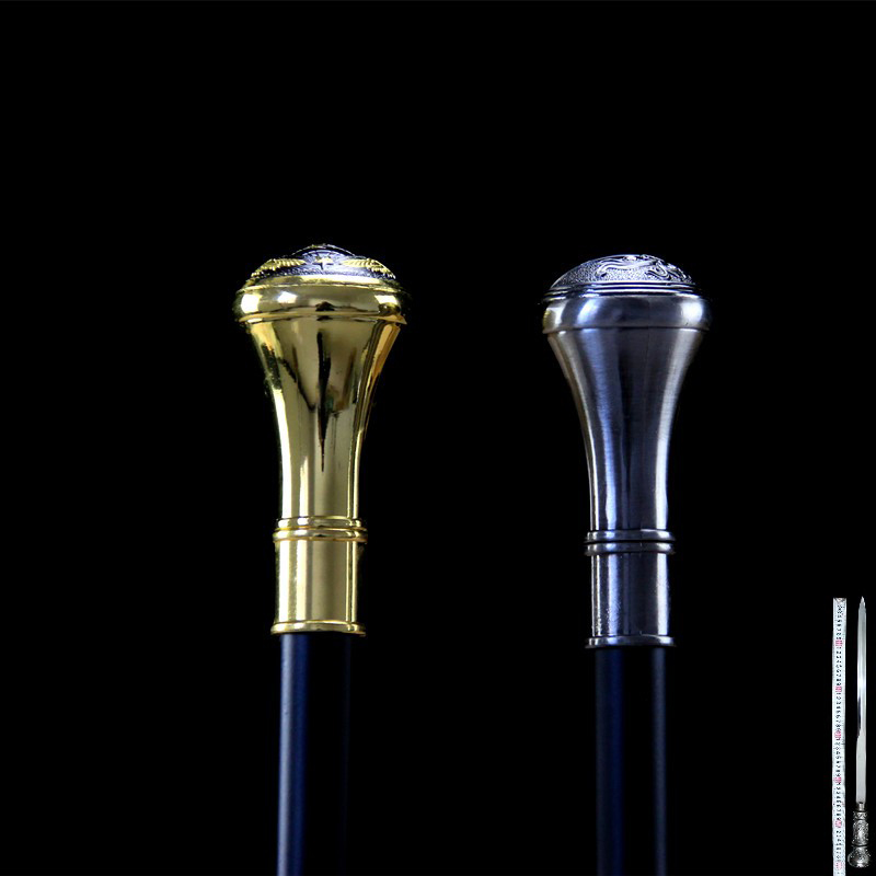 Stainless Steel Walking Stick Sword Cane Sword Outdoor Climbing Sword Movie Collection Shooting Props Not Sharp 90cm
