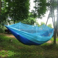 Summer Outdoor Tent Portable Parachute Fabric Hammock Hanging Bed With Mosquio Net Camping Sleeping Beds