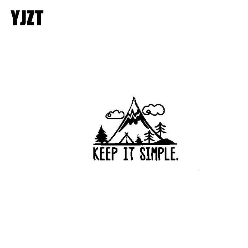 YJZT 17.8CM*14.8CM KEEP IT SIMPLE ADVENTURE Vinyl Personality Car Sticker Decals Motorcycle Black/Silver C13-000441