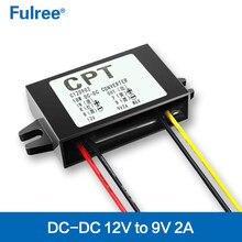 Conversor 12 v para 9 v dc, conversor para baixo e conversor 12 volts para regulador de voltagem de 9 volts módulo da fonte de alimentação à prova d'água