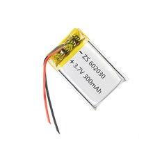 1 шт., 3,7 в, 300 мА/ч, 602030 литий-полимерная аккумуляторная батарея для смарт-часов, psp, светодиодный фонарь, Радиоуправляемый вертолет