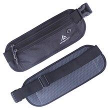 Men Women Nylon Waist Pack Hip Belt Running Bag Cell/Mobile Phone Case Invisible Wallet Anti-theft Money Fanny Pack Bum Belt Bag