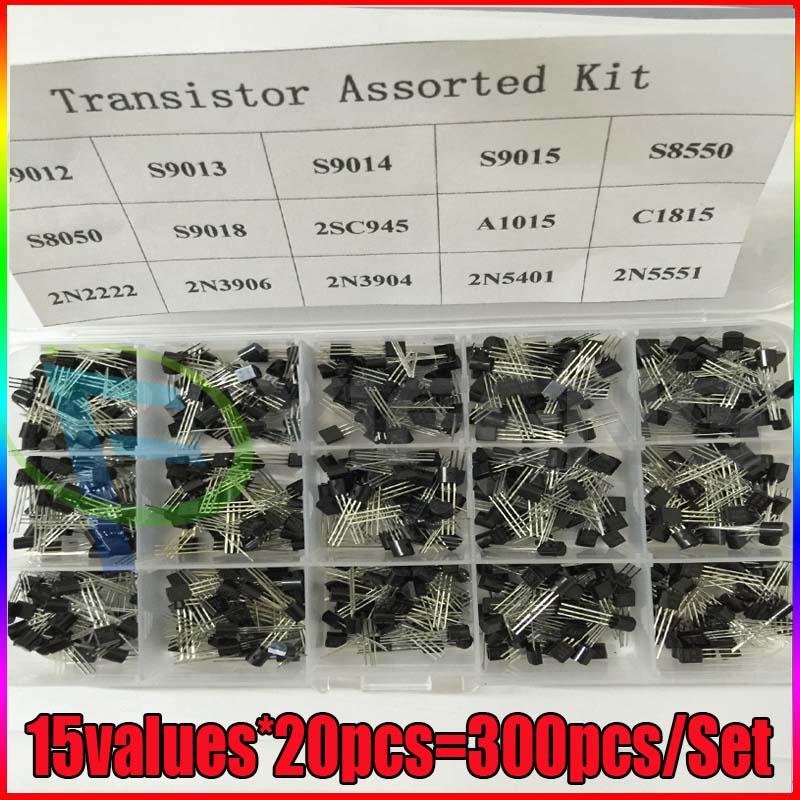 92 מגוון טרנזיסטור קיט-92 S9012 S9013 S9014 S8050 S8550 2N3904 2N3906 BC327 BC337 Tl431 A42 A92 A1015 C1815 13,001 (1)