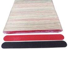 100 × جديد ملفات الأظافر المهنية مخازن الصنفرة سليم الهلال 18X2 سنتيمتر ملف المتاح مزيل البشرة الكالس البولندية أداة الأظافر