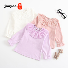 Baby Clothes Newborn Spring Summer Doll Collar Long Sleeve T-shirt Bottoming Shirt Cotton Girl Infant jooyoo