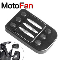 Motorcycle Parts Brake Pedal Pad Foot Peg Cover CNC For Harley Davidson Road King CVO Heritage