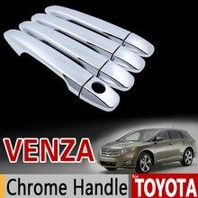 Para Toyota Venza Manija de Puerta del Cromo Ajuste de La Cubierta Set 2008 2009 2010 2011 2012 2013 2014 2015 2016 2017 Accesorios Car Styling