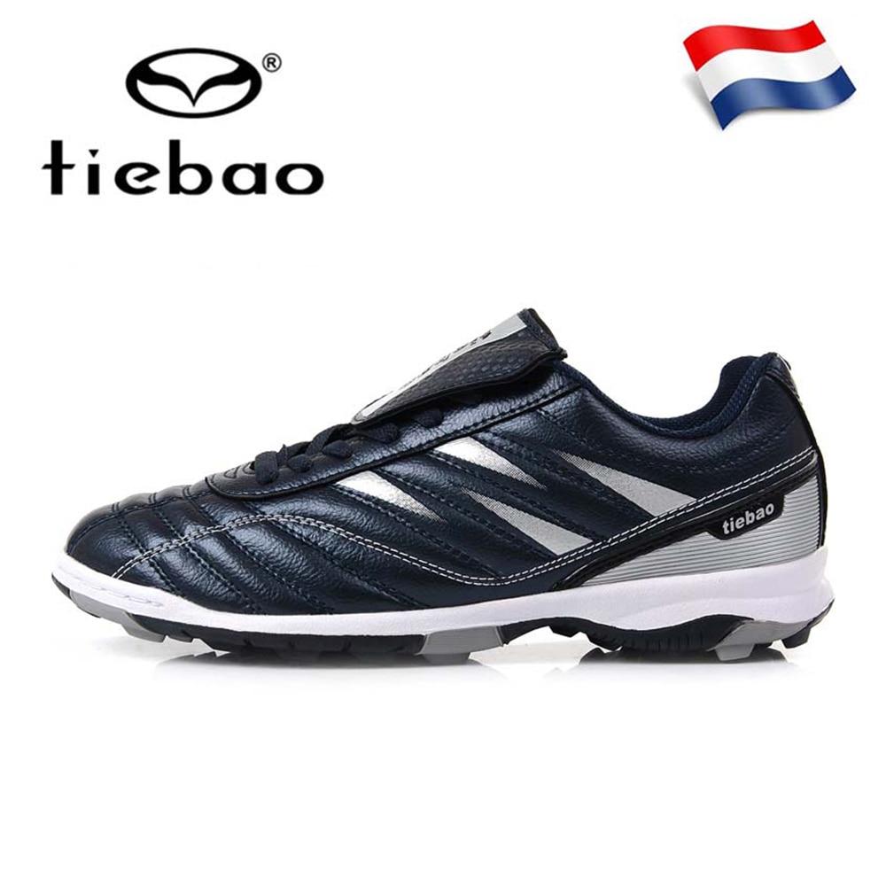 Russian Warehouse! TIEBAO Men Women TF Turf Rubber Soles Football Boots Outdoor Sports Training Soccer Shoes Sneakers EU 39-45(China)