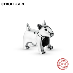 New 2018 Fit Original pandora Bracelets 925 Sterling Silver Cut Animal bull terrier Charms Beads Authentic Jewelry Making gifts