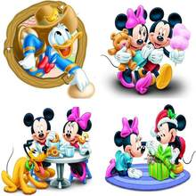 1pcs Mickey Mouse cartoon switch stickers for boys and girls room wall decoration mural art decal many styles optional(China)