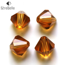 Fcatory Wholesale AAA1 16Fa 100pcs/Bag Grade AAA 10MM 5301 Crystal Bicone Beads 30 Colors Available