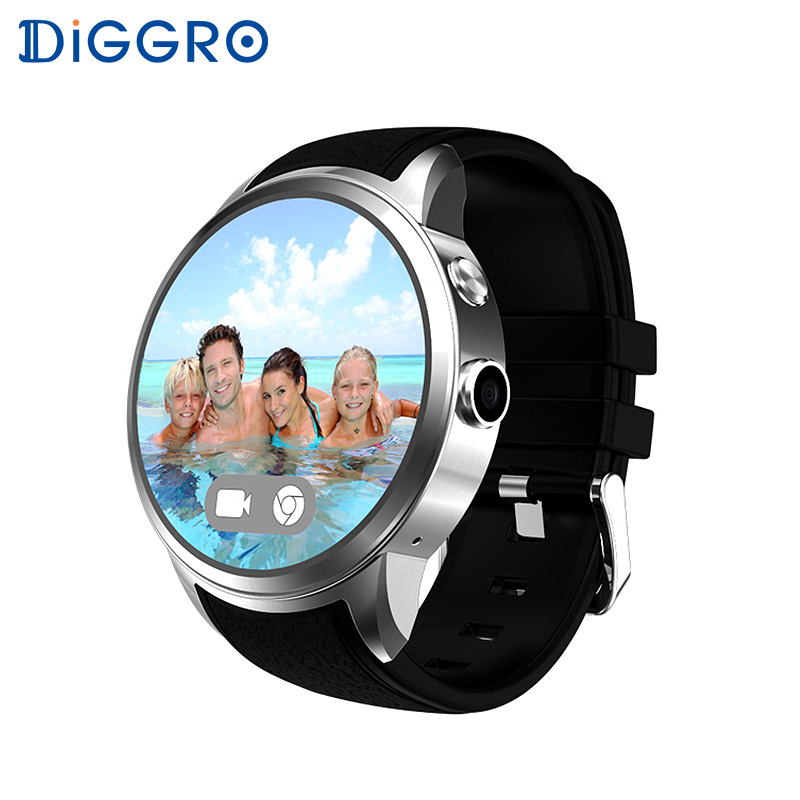 Diggro DI01 Smartwatch Android 3G Wifi GPS Men Smart Watch Phone With SIM Card Camera Heart Rate Monitor Connect For iphone i3 android 5 1 smart watch for android phone sync sms pedometer heart rate monitor wifi gps smartwatch silicone sport wristband