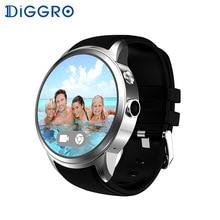 Diggro di01 SmartWatch Android 3 г Wi-Fi GPS Для мужчин Смарт часы-телефон с sim-карты Камера сердечного ритма Мониторы подключения для iphone