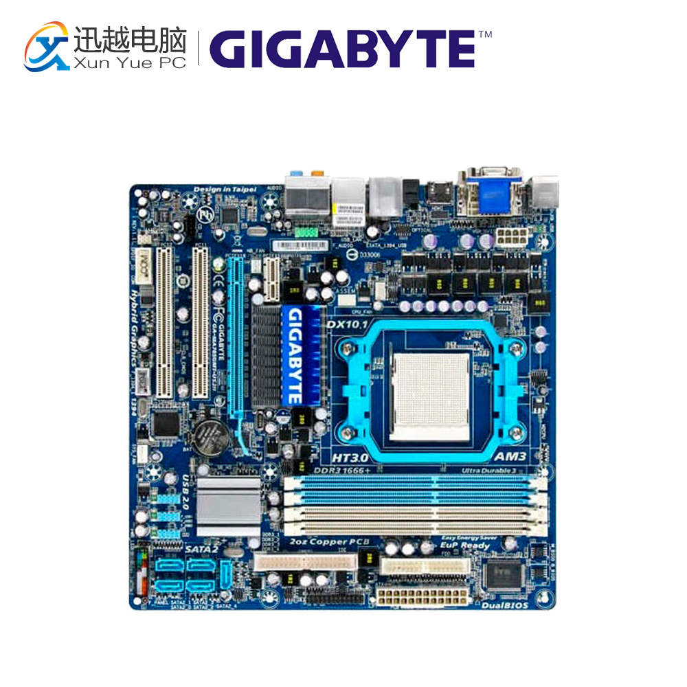 Gigabyte GA-MA785GMT-US2H Desktop Motherboard MA785GMT-US2H 785G Socket AM3 DDR3 SATA2 USB2.0 Micro ATX gigabyte ga ma785gmt us2h original used desktop motherboard amd 785g socket am3 ddr3 sata2 usb2 0 micro atx