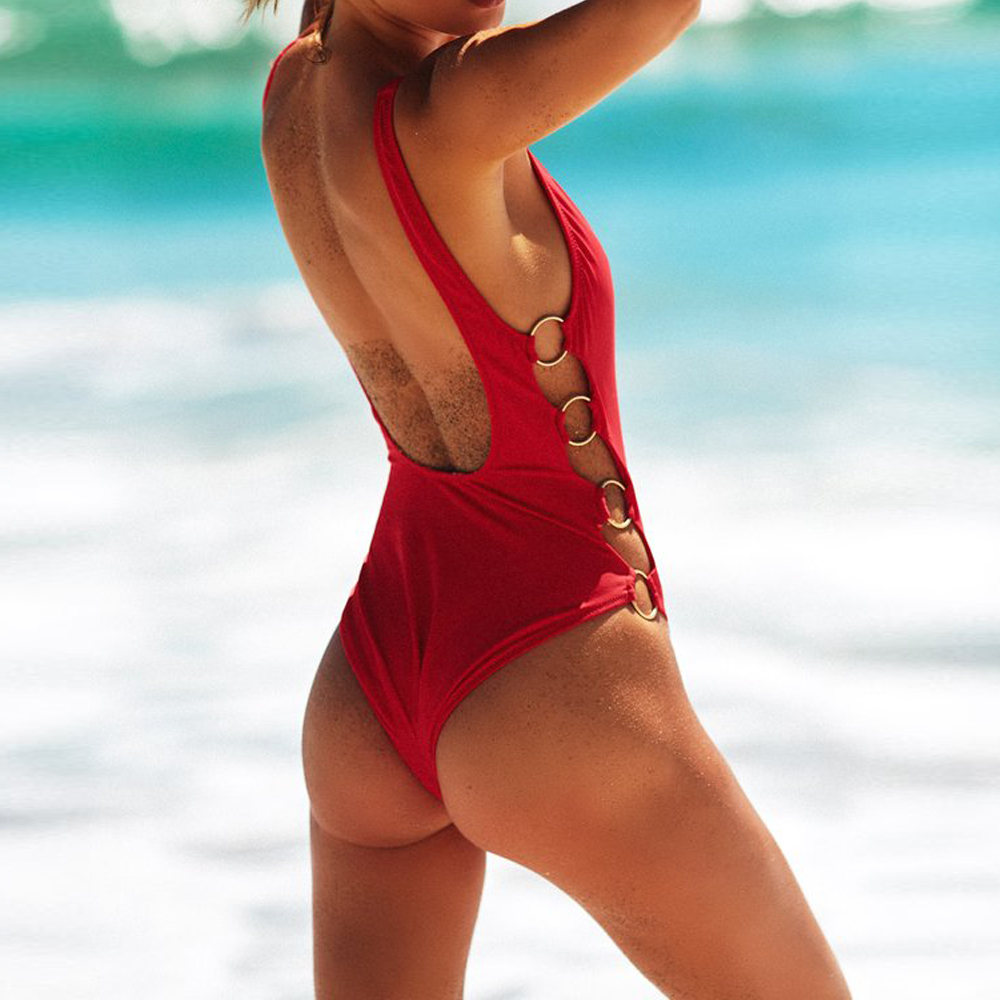 string bathing suits for women one piece swimsuit 2017