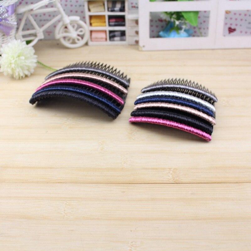 5 pcs / bag Women Adult Novelty Hair Combs  Headwear Cloth Art Hairdressing Comb Accessories WEIJUN