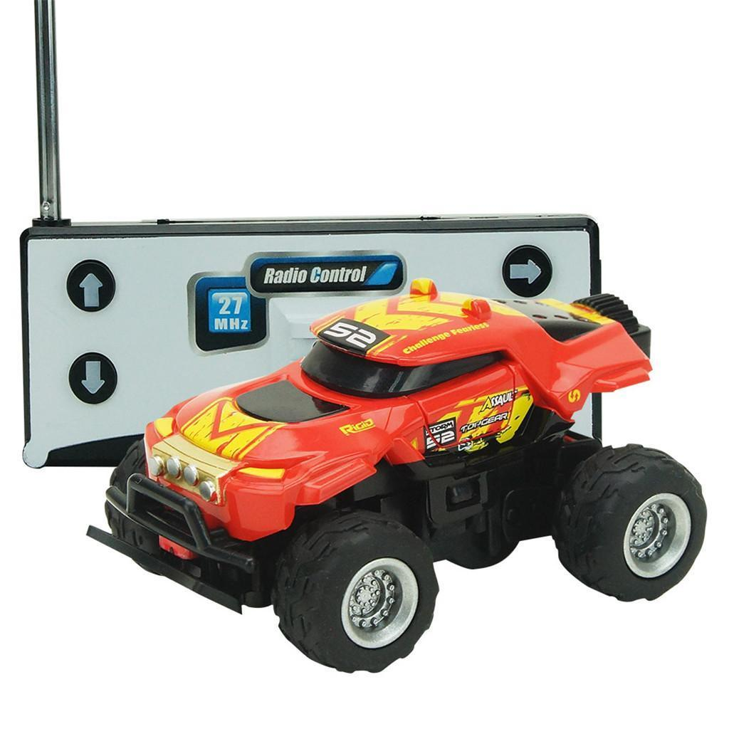 Saleaman 1:58 Scale 4CH RC truck Off-road Vehicle Set for Christmas Birthday Gift Red Toys For Children